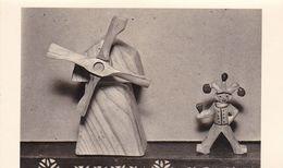 AK Foto Holzfiguren Windmühle Harlekin  - Ca. 1940/50   (51087) - Jeux Et Jouets
