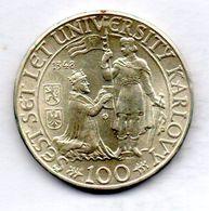 CZECHOSLOVAKIA, 100 Korun, Silver, Year 1948, KM #26 - Tchécoslovaquie