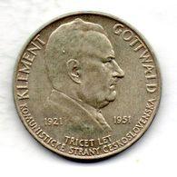 CZECHOSLOVAKIA, 100 Korun, Silver, Year 1951, KM #33 - Tchécoslovaquie