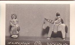 AK Foto Holzfiguren Spielzeug - Reiter Pferd Frau - Ca. 1940/50   (51090) - Jeux Et Jouets