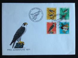 Switzerland, Uncirculated FDC,  « Pro Juventute », « BIRDS », 1971 - Pro Juventute