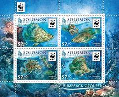 Salomon 2015, WWF, Fishes, 4val In BF - Solomon Islands (1978-...)