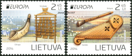 "LITUANIA/ LITHUANIA/ LITAUEN - EUROPA 2014-TEMA ANUAL  "" INSTRUMENTOS MUSICALES NACIONALES""-  SERIE De 2 V. - 2014"