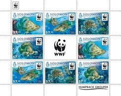 Salomon 2015, WWF, Fishes, 8val In Sheetlet - Salomoninseln (Salomonen 1978-...)