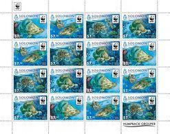 Salomon 2015, WWF, Fishes, 16val In Sheetlet - Solomon Islands (1978-...)