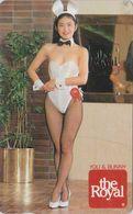 JAPAN - TC Ancienne JAPON / 110-011 - FEMME * YOU & BUNNY * Lapin Rabbit - BIKINI GIRL Phonecard Playboy The Royal  6531 - Japon