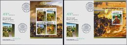 Salomon 2015, 100th Of WWI, Battle Of Ypres, Generals, 4val In BF +BF In 2FDC - WW1