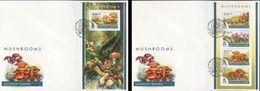 Salomon 2015, Mushrooms I, 4val In Bf +BF IMPERFORATED In 2FDC - Solomon Islands (1978-...)