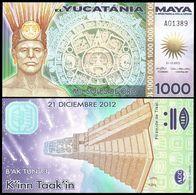 Yucatania - 1000 Soles De Oro 2012 UNC Lemberg-Zp - Banknoten