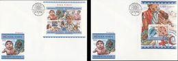 Salomon 2015, Red Cross, 4val In Bf +BF In 2FDC - Solomon Islands (1978-...)