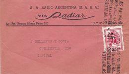 RADIO ARGENTINA VIA RADIAR. ARGENTINE ENVELOPPE COMMERCIAL, CIRCULEE BUENOS AIRES ANNEE 1947 -LILHU - Argentina