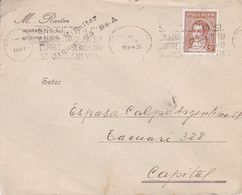 M RAITER. ARGENTINE ENVELOPPE COMMERCIAL, CIRCULEE ANNEE 1943 A CAPITAL -LILHU - Argentina
