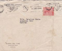 RADIO BELGRANO, DIARIO DEL CINE. ARGENTINE ENVELOPPE COMMERCIAL, CIRCULEE CIRCA 1940's -LILHU - Argentina