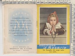 Libretto Religioso Recitiamo Il Rosario Istituto Missionario Dei Sacerdoti Del S. Cuore Monza - Religion