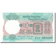 Billet, Inde, 5 Rupees, Undated (1975), KM:80s, NEUF - Inde