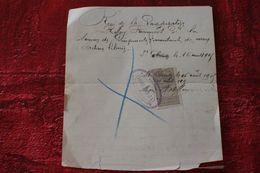 1905 SAINT-CLAUDE REÇU ACHAT ACTION TITRE LIBÉRÉE + FISCAL- QUITTANCE 10C Facture Document Commercial SCRIPOPHILIE - France