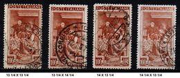 # Italia Al Lavoro 100 Lire - 4 Dentellature Diverse (vedi Foto) - 1946-.. République