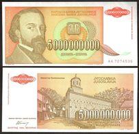 Yugoslavia - 5000000000 Dinara 1993 UNC Pick 135a 5'000'000'000 D Lemberg-Zp - Yugoslavia