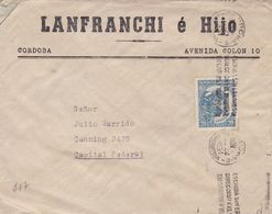 LANFRANCHI E HIJO. ARGENTINE ENVELOPPE COMMERCIAL, CIRCULEE CORDOBA A CAPITAL, ANNEE 1951 -LILHU - Argentina