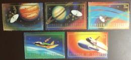 Lesotho, 1981, Space Shuttle, Voyager, MNH, Michel 324-328 - Lesotho (1966-...)