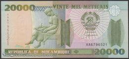 TWN - MOZAMBIQUE 140 - 20000 20.000 Meticais 16.6.1999 Prefix AA UNC - Mozambique