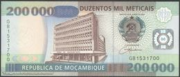 TWN - MOZAMBIQUE 141 - 200000 200.000 Meticais 16.6.2003 Prefix GB UNC - Mozambique