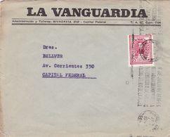 LA VANGUARDIA. ARGENTINE ENVELOPPE COMMERCIAL, CIRCULEE BUENOS AIRES, ANNEE 1947 -LILHU - Argentina