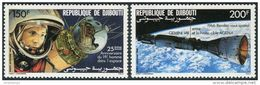 Djibouti 1986. Michel #480/81 MNH/Luxe. Space. 25 Years Of Manned Space Travel. (Ts10) - Gibuti (1977-...)