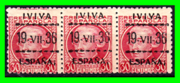 VITORIA, SOBREIMPRESIÓN PATRIÓTICA, 1937, «! VIVA ESPAÑA 19 VII 36 ESPAÑA!»  SOBREIMPRESO EN 30Cts. - 1931-Aujourd'hui: II. République - ....Juan Carlos I
