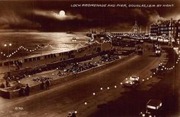 Loch Promenade And Pier Douglas Isle Of Man By Night Postcard - Isle Of Man