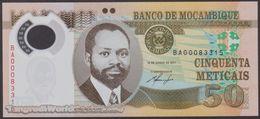 TWN - MOZAMBIQUE 150a - 50 Meticais 16.6.2011 Polymer - Prefix BA UNC - Moçambique