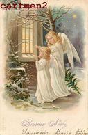 ILLUSTRATEUR JOYEUX-NOEL ANGE ANGEL LITHOGRAPHIE 1900 - Santa Claus