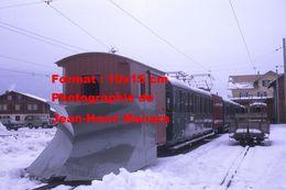 Reproduction Photographie D'une Vue D'un Train Chasse Neige Schynige Platte Bahn Du Chemin De Fer à Crémaillère Suisse - Reproductions