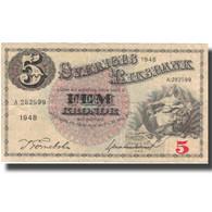 Billet, Suède, 5 Kronor, 1948, 1948, KM:33ae, TTB - Suède