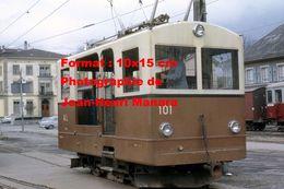 Reproduction D'une Photographie D'un Train AL Du Chemin De Fer à Crémaillère Aigle-Leysins En Suisse En 1968 - Reproductions