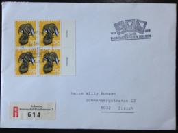 Switzerland, Registered Circulated FDC,  « Pro Juventute », « Fauna », 1966 - Pro Juventute