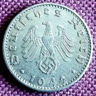 DUITSLAND ; Zeer Mooie 50 REICHSPFENNIG  1942 E BETTER DATE KM 96 XF/UNC - [ 4] 1933-1945 : Tercer Reich