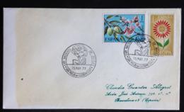 Spain, Circulated Cover,  « Europa CEPT », « Flowers » Special Postmark, 1977 - 1931-Hoy: 2ª República - ... Juan Carlos I