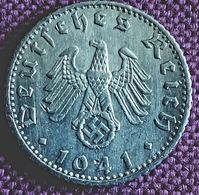 DUITSLAND ; Zeer Mooie 50 REICHSPFENNIG  1941 F KM 96 XF/UNC - [ 4] 1933-1945 : Tercer Reich