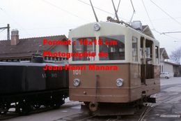 Reproduction D'une Photographie D'un Train AL N°101 Du Chemin De Fer à Crémaillère Aigle-Leysins En Suisse En 1968 - Reproductions