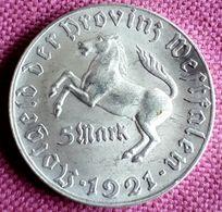 DUITSLAND / WESTFALEN ;  5  MARK  1921 INFLATION NOTGELT - [ 3] 1918-1933 : Repubblica Di Weimar