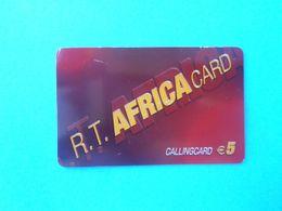 R.T. AFRICA CARD Callingcard €5 ( Denmark Prepaid Phone Card ) Calling Card Prépayée Carte Carta Prepagata Remote GSM - Dinamarca