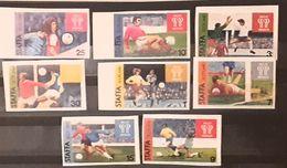Staffa Island  , Soccer,football, World Cup Argentina 1978 Set. 8v Imperfect.Mnh - Cinderellas