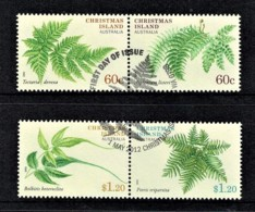 Christmas Island 2012 Ferns Set Of 4 Used - Christmas Island