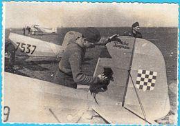 WW2 - CROATIA ARMY ( NDH ) - CROATIAN AIR FORCE & PILOT ... Old Photo-reproduction * Larger Size * Croatie Kroatien - Reproductions