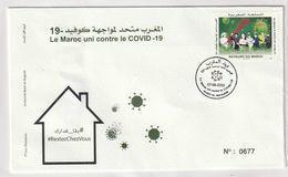 Maroc. Enveloppe De 1er Jour  2020. Fonds Covid-19. 3.75 + 5 Dh. - Enfermedades