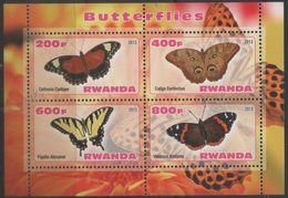 Rwanda - #Butterflies - MNH S/s - Rwanda