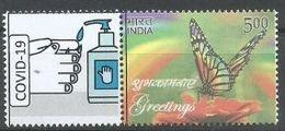 India, Covid 19, Coronavirus, Frontline Warriors,Hand Wash, Sanitizer, My Stamp MNH, Inde Indien - Disease
