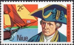 1974 NIUE 2c Mint Not Hinged Stamp -  Captain Cook Bi-Centenary - Niue