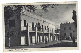 CLA287 - LIBIA COLONIALE ZAVIA PIAZZA 21 APRILE ANIMATA 1940 - Libya